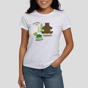 Allegro Andante Music Quote Women's T-Shirt