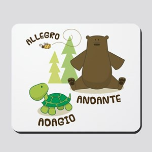 Allegro Andante Music Quote Mousepad