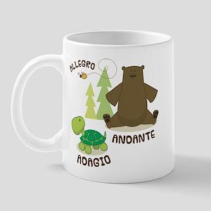 Allegro Andante Music Quote Mug