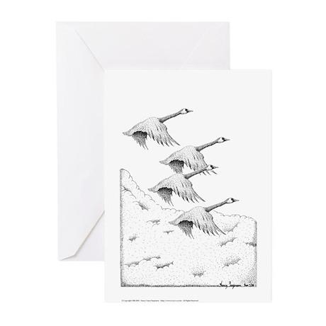 Geese Pen & Ink Greeting Cards (10 Pk)