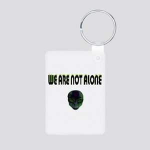 we are not alone Aluminum Photo Keychain