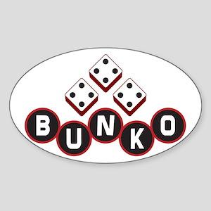 Bunko Dots Sticker (Oval)