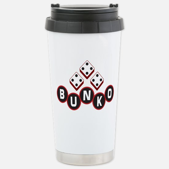 Bunko Dots Stainless Steel Travel Mug