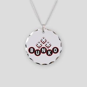 Bunko Dots Necklace Circle Charm