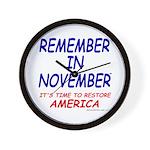 Remember November Wall Clock