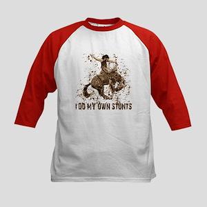 Bronco Rodeo Cowboy, Stunts Kids Baseball Jersey