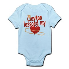 Clayton Lassoed My Heart Infant Bodysuit