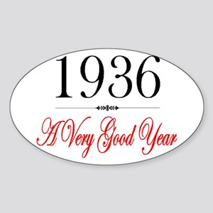1936 Oval Sticker