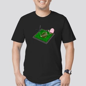 Rose Colored Glasses on the G Men's Fitted T-Shirt