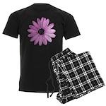 Purple Daisy Men's Dark Pajamas