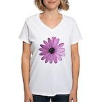 Purple Daisy Women's V-Neck T-Shirt