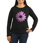 Purple Daisy Women's Long Sleeve Dark T-Shirt