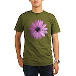 Purple Daisy Organic Men's T-Shirt (dark)