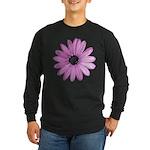 Purple Daisy Long Sleeve Dark T-Shirt
