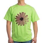 Purple Daisy Green T-Shirt