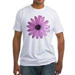 Purple Daisy Fitted T-Shirt