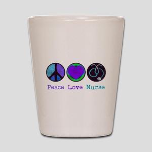Peace Love Nurse Shot Glass