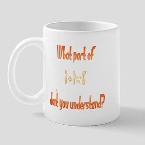What Part don't understand? Mug