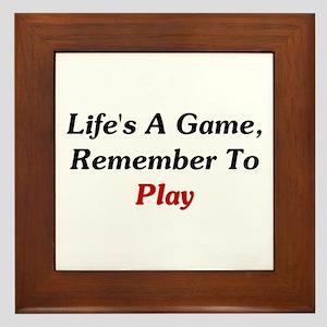 Remember To Play Framed Tile