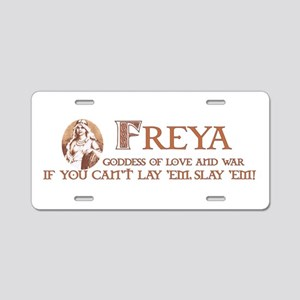 Freya Aluminum License Plate