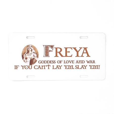Freya Aluminum License Plate