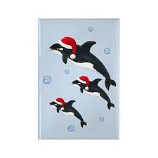 Killer Whale - Christmas Rectangle Magnet