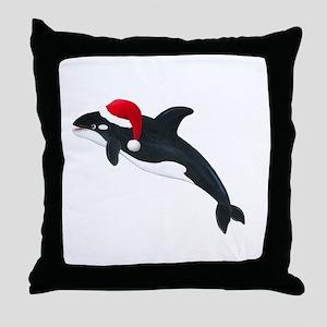 Killer Whale - Christmas Throw Pillow