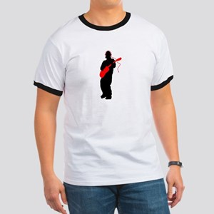 Guitar player with headphones Ringer T