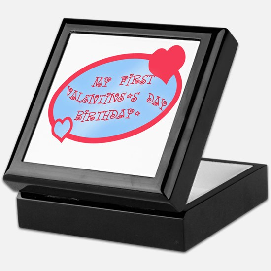 First Valentine Birthday BLUE Keepsake Box