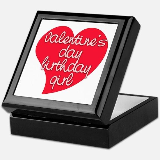 Valentine Day Birthday Girl Keepsake Box