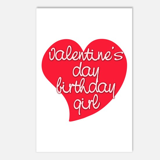 Valentine Day Birthday Girl Postcards (Package of