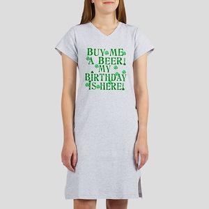Buy Me a Beer Irish Birthday Women's Nightshirt