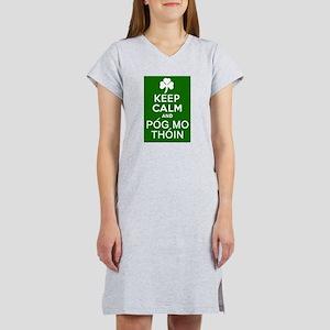 Keep Calm and Pog Mo Thoin Women's Nightshirt