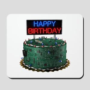 Geek Birthday Cake Mousepad
