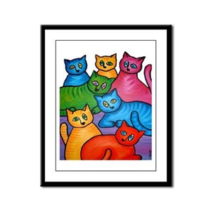 One Cat Two Cat Framed Panel Print