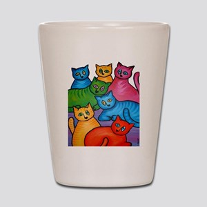 One Cat Two Cat Shot Glass