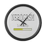 Nerdgasm Loading Large Wall Clock