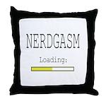 Nerdgasm Loading Throw Pillow