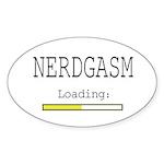Nerdgasm Loading Sticker (Oval 10 pk)