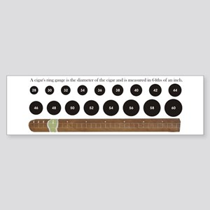 Cigar Ring Gauge Guide Bumper Sticker