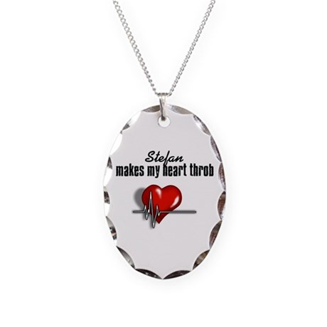 Stefan makes my heart throb Necklace Oval Charm