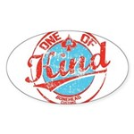 One of A kind 2 Sticker (Oval)