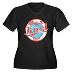 One of A kind 2 Women's Plus Size V-Neck Dark T-Sh
