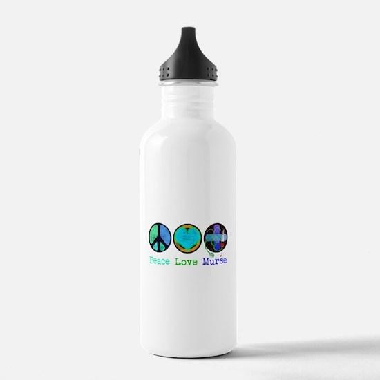 Peace Love Murse Water Bottle