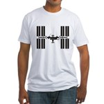 Space Station Fitted T-Shirt