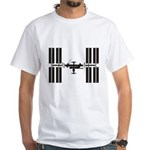 Space Station White T-Shirt