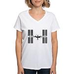 Space Station Women's V-Neck T-Shirt
