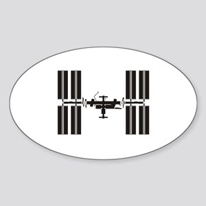 Space Station Sticker (Oval)
