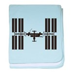 Space Station baby blanket