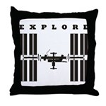 ISS / Explore Throw Pillow